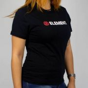 Camiseta Feminina Element Blazin SS BK Preto/Vermelho