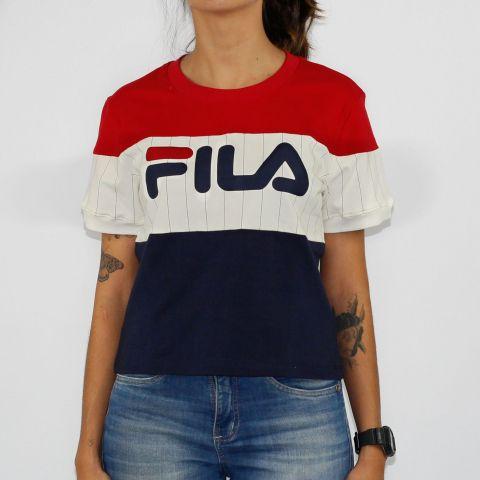 Cropped Fila Feminino Alana - Vermelho/Branco/Azul
