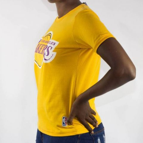 Camiseta NBA Feminina Lakers - Amarela