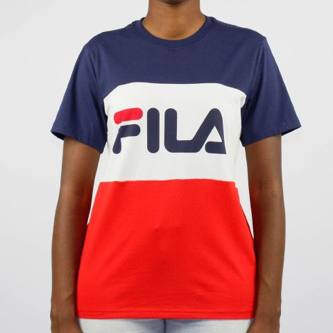 Camiseta Fila Box Alex - Azul/Branco/Vermelho