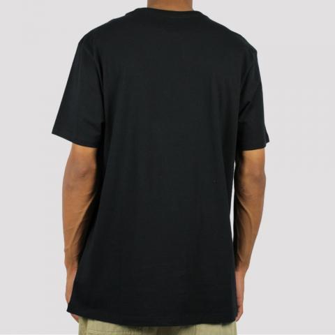 Camiseta Fila Established - Preto/Cinza Escuro