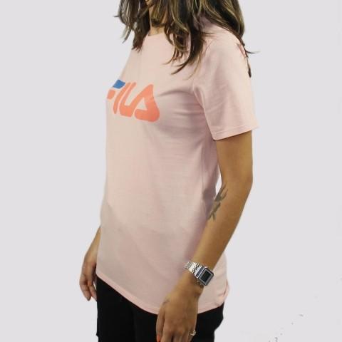 Camiseta Fila Feminina Basic Letter Salmão
