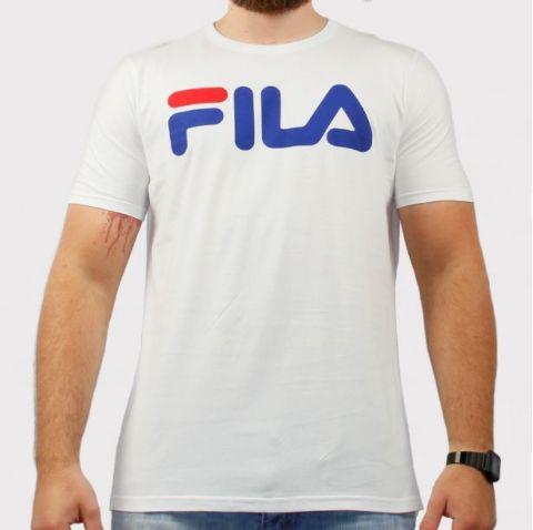 Camiseta Fila Letter - Branco/Azul