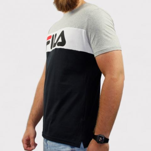 Camiseta Fila Letter Colors - Preto/Cinza