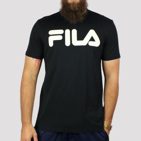 Camiseta Fila Letter II - Preto/ Branco