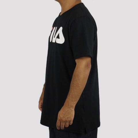 Camiseta Fila Letter - Preto Coral
