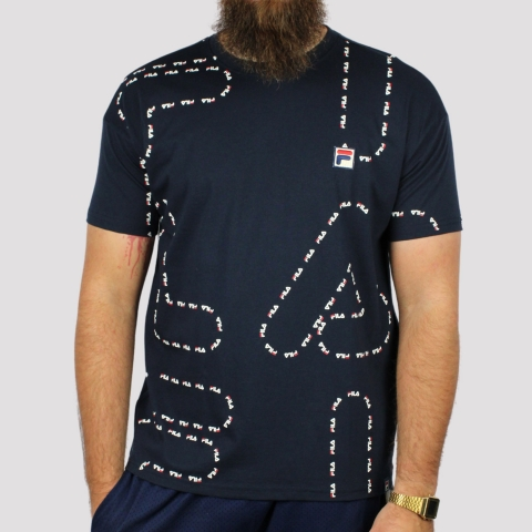 Camiseta Fila Linear - Marinho