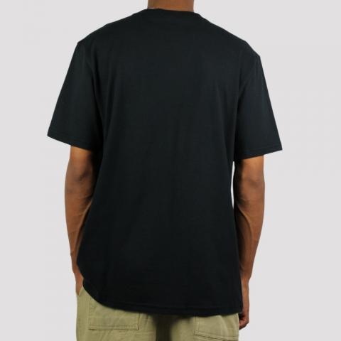 Camiseta Fila Logo - Preto/ Cinza Escuro