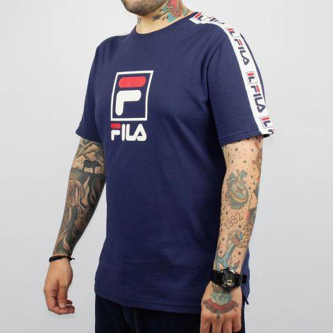 Camiseta Fila Lucca - Azul Marinho/Branco/Vermelho