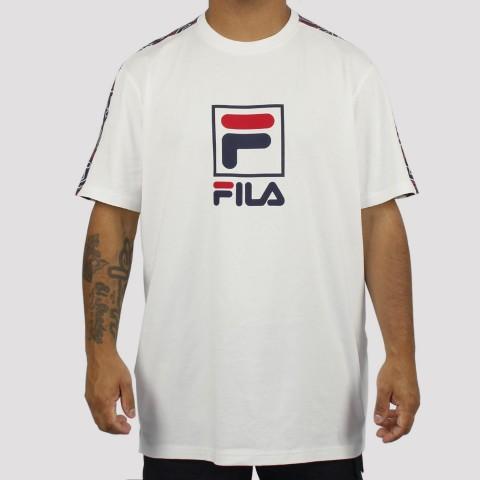 Camiseta Fila Lucca - Branco/Marinho