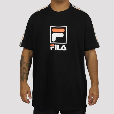 Camiseta Fila Lucca - Preto Creme