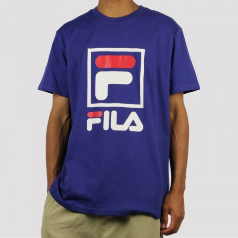Camiseta Fila Stack New - Azul Náutico/ Branco