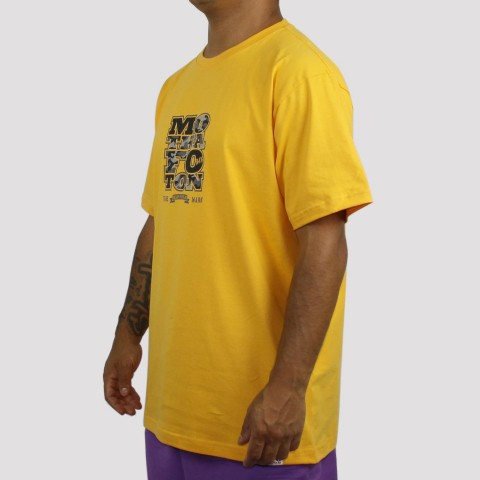 Camiseta Foton Motha Camo - Amarelo Ouro