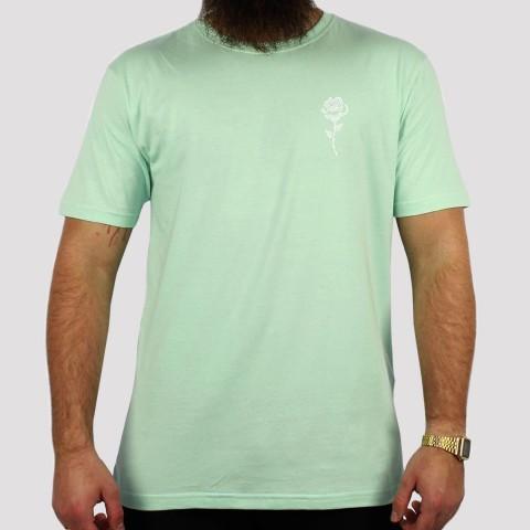 Camiseta Foton Rosas - Verde Água