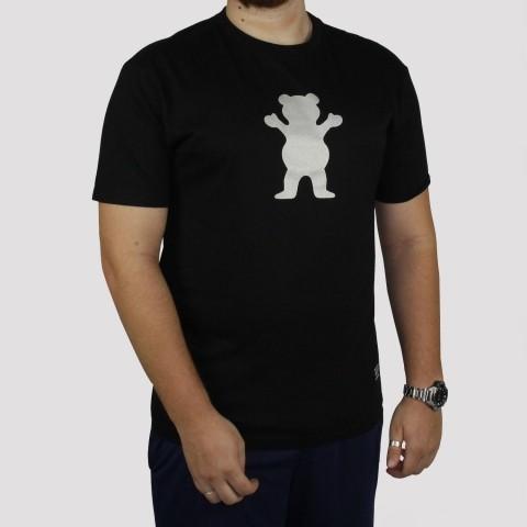 Camiseta Grizzly Bear Logo Refletivo - Preto