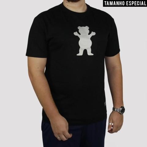 Camiseta Grizzly Bear Logo Refletivo (Tamanho Extra) - Preto