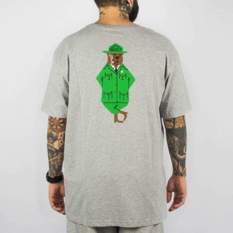 Camiseta Grizzly Bear Ranger - Cinza Mescla