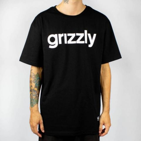Camiseta Grizzly Lowercase - Preta