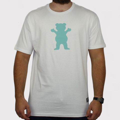 Camiseta Grizzly OG Bear - Branco/Verde