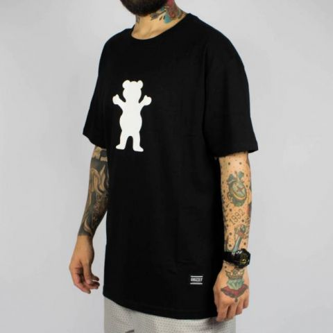 Camiseta Grizzly OG Bear Logo Black/Preto