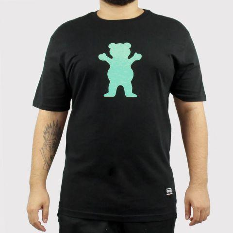Camiseta Grizzly OG Bear Logo - Preto/Verde Água