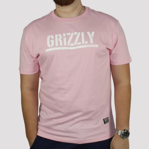 Camiseta Grizzly Stamp - Pink