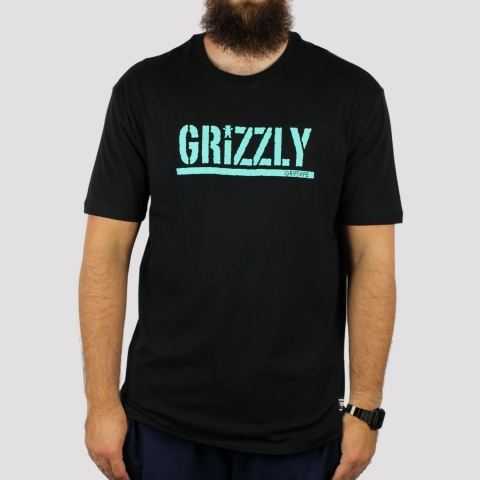 Camiseta Grizzly Stamped Tee - Black