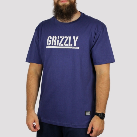Camiseta Grizzly Stamped Tee - Purple/ Roxo