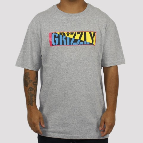 Camiseta Grizzly Sun And Skate - Cinza
