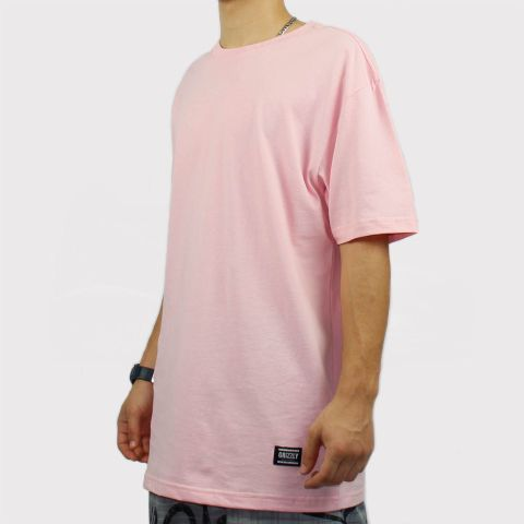 Camiseta Grizzly Tagless - Rosa Bebê