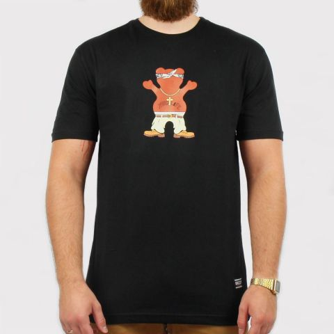 Camiseta Grizzly Thug Bear - Black/Preto