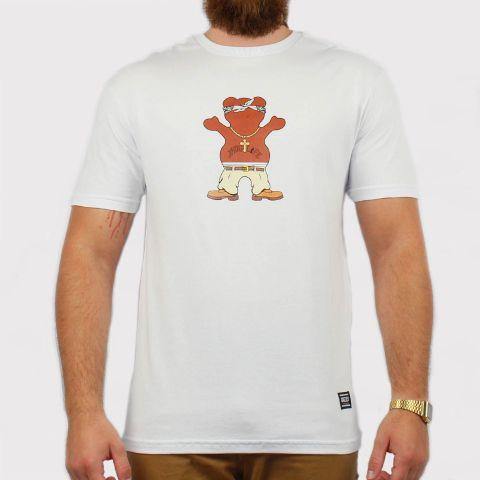 Camiseta Grizzly Thug Bear - White/Branco