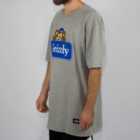 Camiseta Grizzly Travel Bear - Cinza Mescla