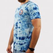 Camiseta Hocks Aviso Tie Dye - Azul