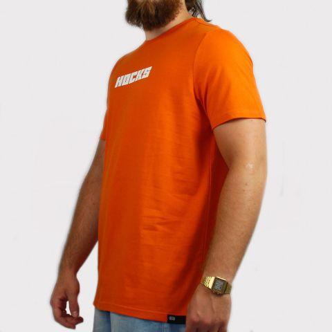 Camiseta Hocks Bases - Laranja/Branco