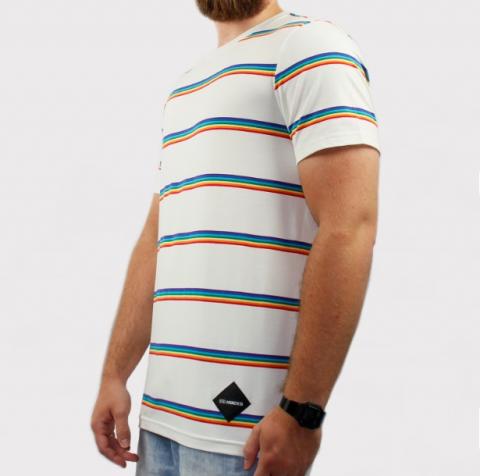 Camiseta Hocks Colorway - Branca/Colorida