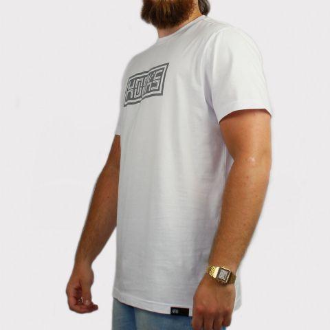 Camiseta Hocks Digital - Branco/Cinza