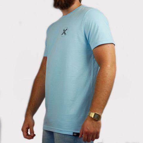 Camiseta Hocks Emblema - Azul Claro