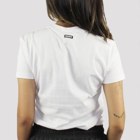 Camiseta Hocks Feminina Logo Bordado Gola V - Branco