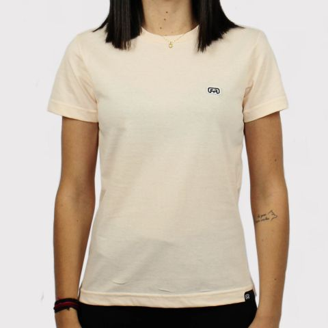 Camiseta Hocks Feminina Logo Bordado - Pêssego
