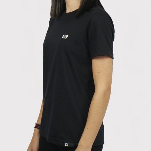 Camiseta Hocks Feminina Logo Bordado - Preto