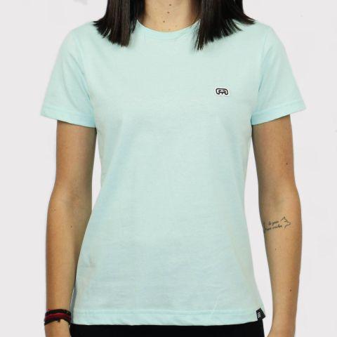 Camiseta Hocks Feminina Logo Bordado - Verde Àgua