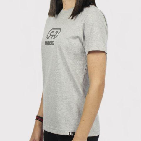 Camiseta Hocks Feminina Logo - Cinza
