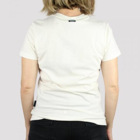Camiseta Hocks Feminina Logo - Off White