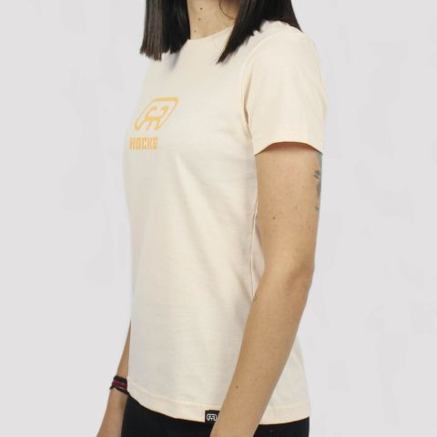 Camiseta Hocks Feminina Logo - Pêssego