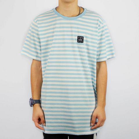 Camiseta Hocks Gate Listrada - Azul Bebê/Branco