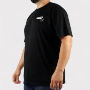 Camiseta Hocks Jamaic Preto/Branco (Tamanho Especial)