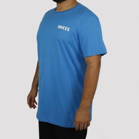 Camiseta Hocks Lenha - Azul