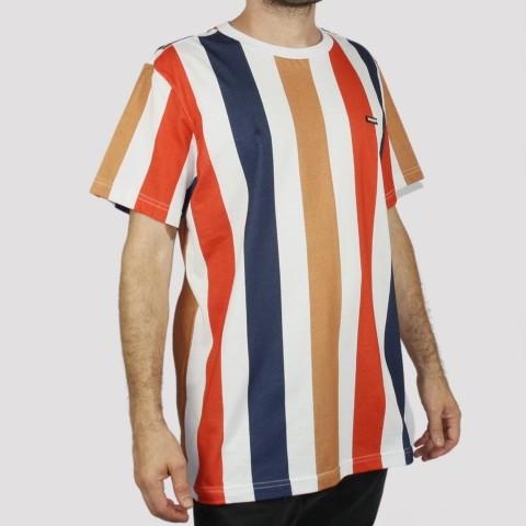 Camiseta Hocks Linear Multicolor - Azul/ Laranja