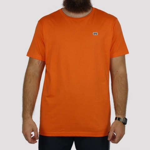Camiseta Hocks Logo Bordado - Laranja Claro